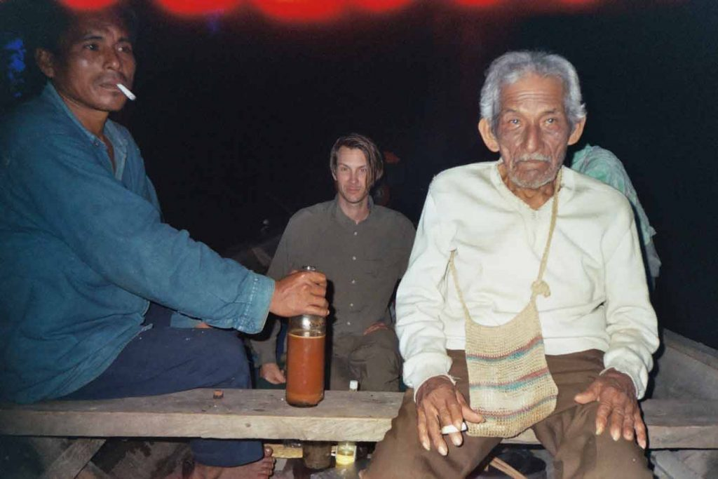 El Mundo Magico shamanic expedition and Ayahuasca ceremony on a 10 metres long boat on the Cocha Supay, in a remote area of the Peruvian Amazon, with Maestro Palero Don Julio Llerena Pinedo.