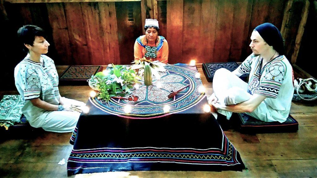 San Pedro (Huachuma) ceremony with Maestra Isabel. Photo: C. Hoyos.