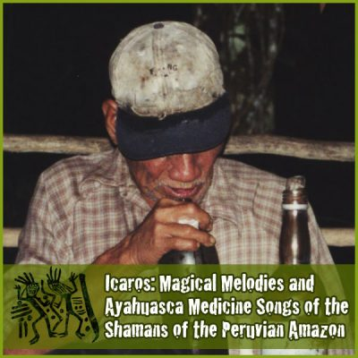 Don Ruperto whispering an icaro to the Ayahuasca medicine at the beginning of the ceremony