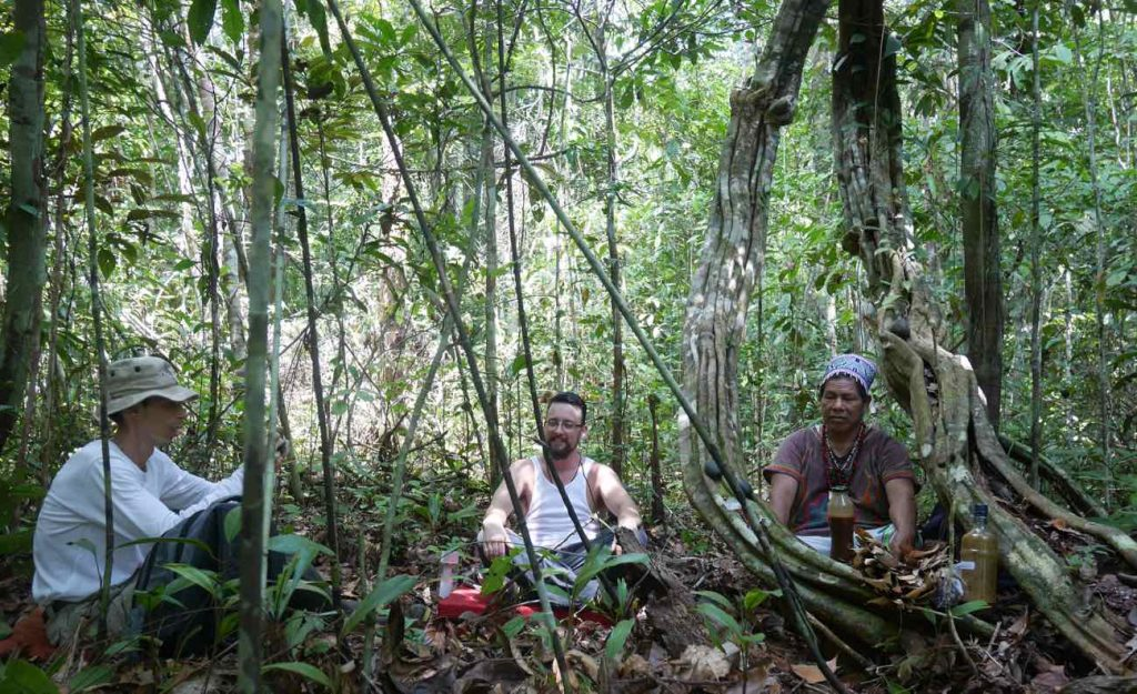 Daytime Ayahuasca cerrmony with Don Armando in the open jungle, by a most ancient Suni ayahuasca grandmother vine, believed to be over four centuries old!